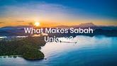 What makes Sabah a Unique Destination?