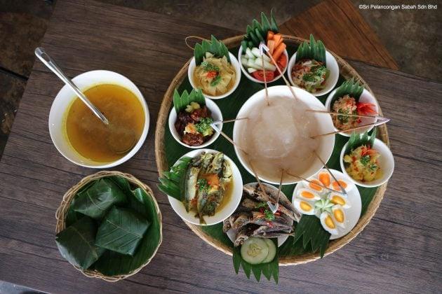 Photo: Ambuyat Set with Sour Fish Soup
