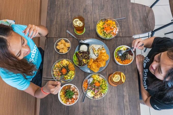 Photo: Superono Buddha Bowl, Chicken Bowl, Salmon Aburi Bowl, and Seared Ahi Tuna Bowl