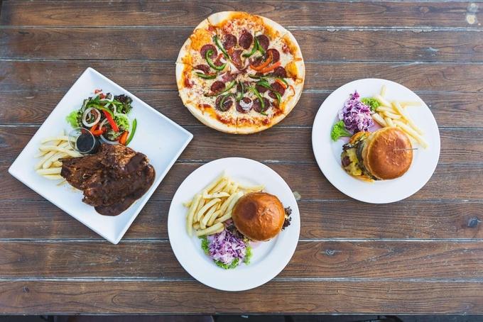 Photo: Beer Factory Lamb Steak, Pizza, and Burger